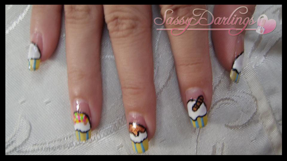 "Nails Art: ""Let's Have Ice-Cream"" Nail Art Tutorial"