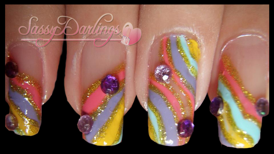 Nails Art: Princess Inspired Prom Nail Art Tutorial