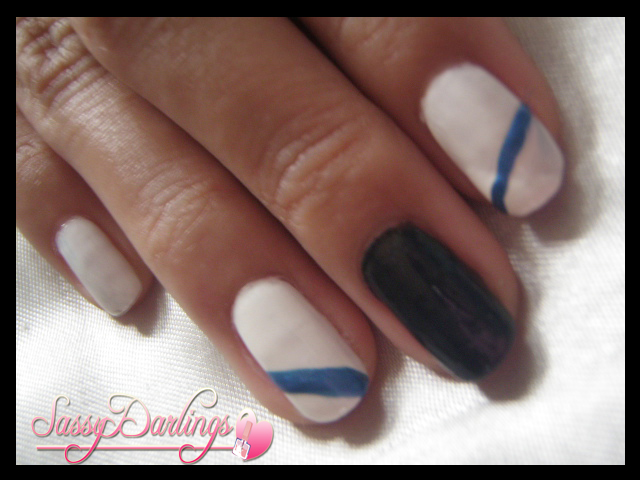 Nails Art: SNSD's Yuri Black And White Inspired Tutorial