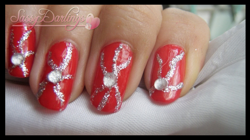 Nails Art: Red Elegance Nail Art Tutorial