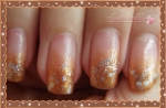 Faded Brown French Manicure