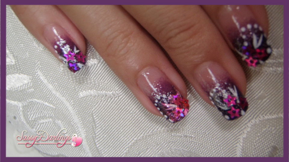 Purple Glamour Nail Art | Nail Art Love