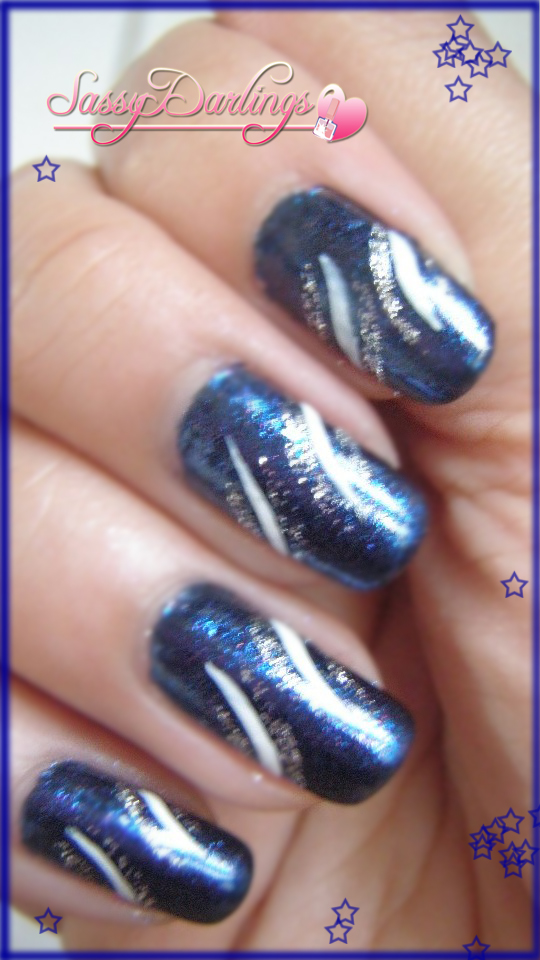 Party Nave Blue Nails