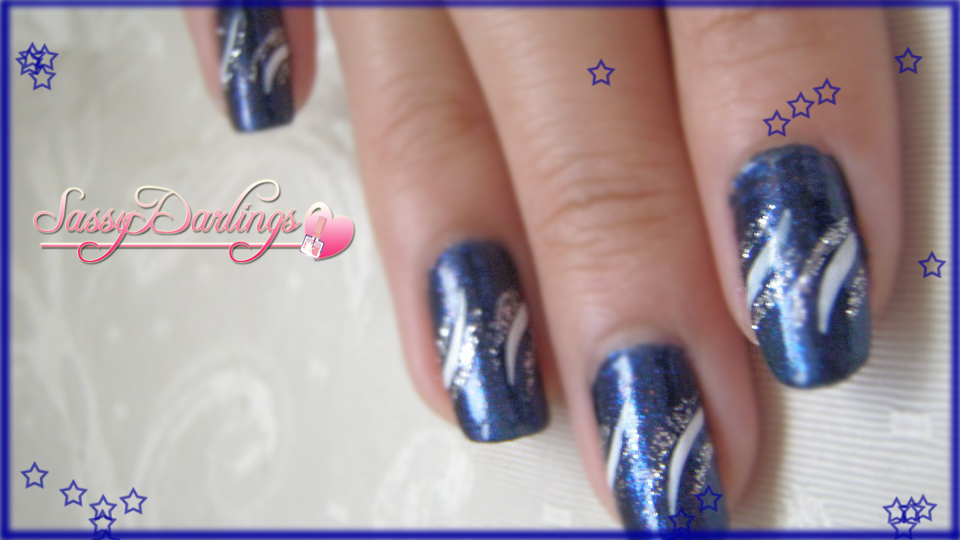 Navy Blue Nail Art : Party navy blue nails tutorial nail art love
