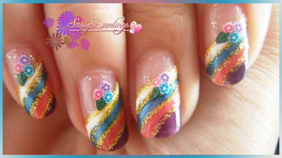 Rainbow Flowers Nail Art Tutorial | Nail Art Love