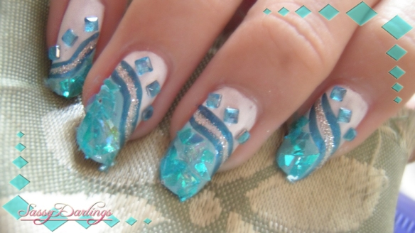Afterschool Blue Nail Art Inspired