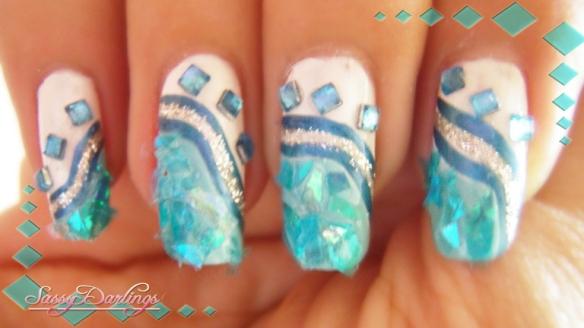 Afterschool Blue Nail Art Inspired