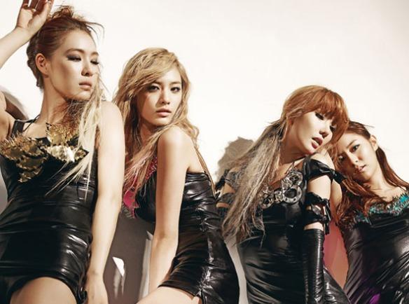 Afterschool red (L-R: Kahi, Nana, Jung Ah and UEE)