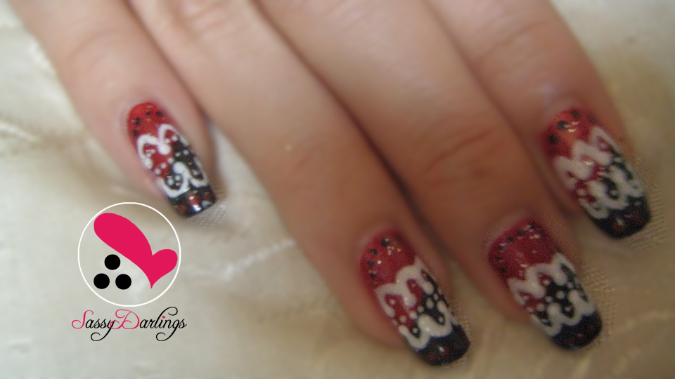 After School Red – Into the Night Sky Nail Art | Nail Art Love