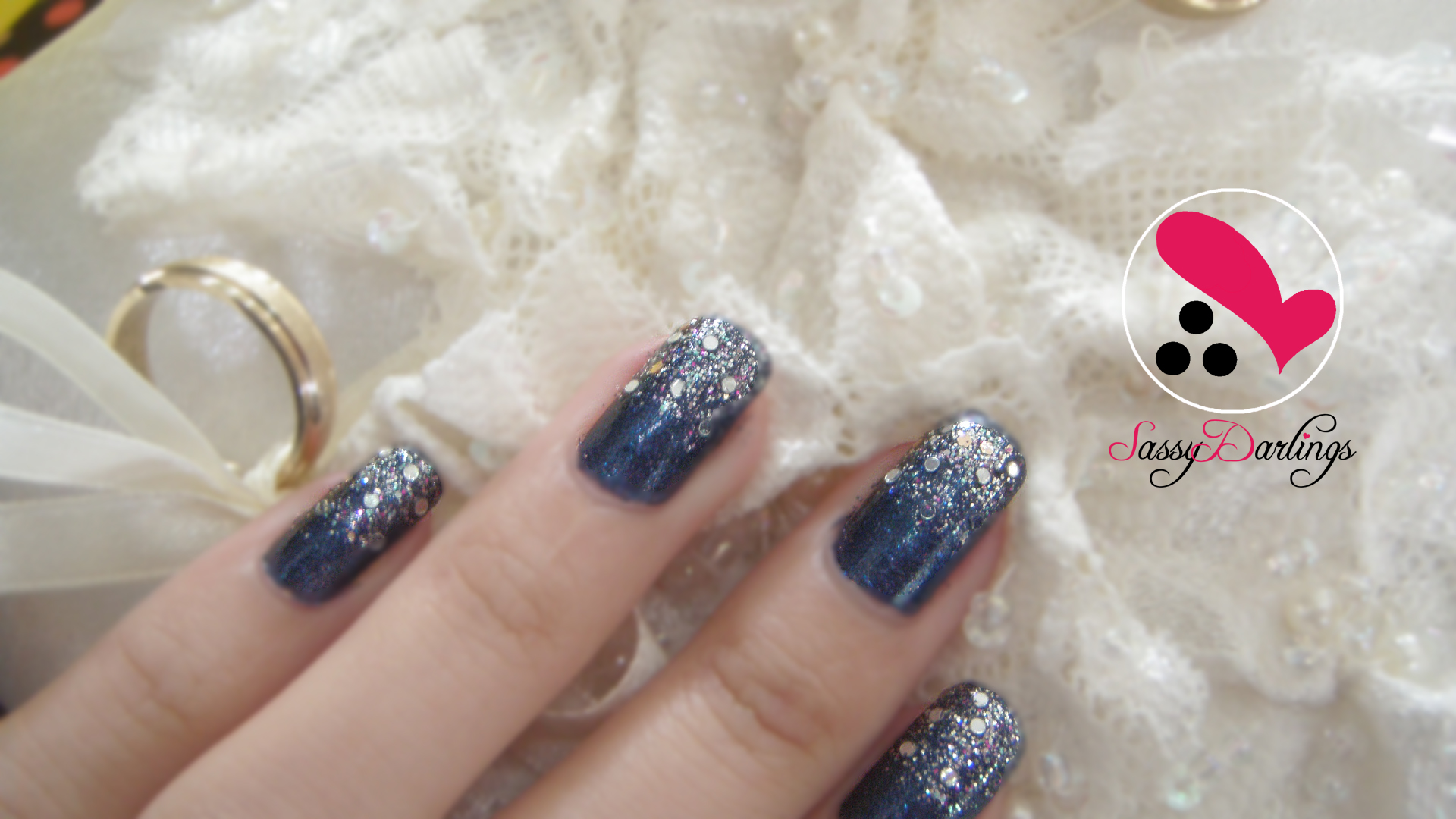 Glitter royal blue nails how to remove glitters nail art love glitter royal blue prinsesfo Images