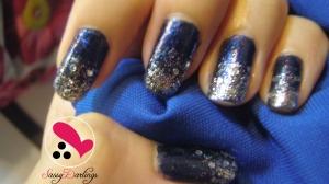 royal blue nail art