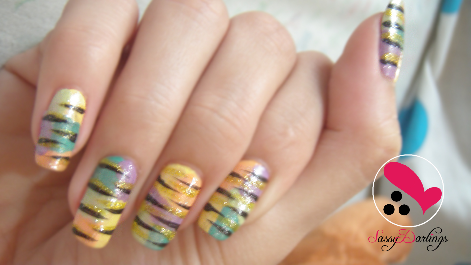Nails Art: Colorful Zebra Print Nail Art Tutorial